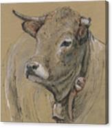 Cow Portrait Painting Canvas Print