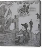 Cow Tales Canvas Print