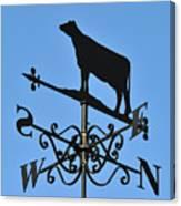 Cow Weathervane. Canvas Print