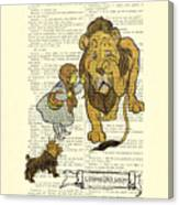 Cowardly Lion, The Wizard Of Oz Scene Canvas Print