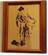 Cowboy And Saddle Canvas Print