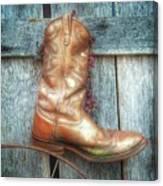 Cowboy Boot Rack Canvas Print