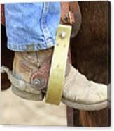 Cowboy Boot Canvas Print