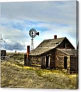 Cowboy Cabin Canvas Print