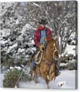 Cowboy Christmas Canvas Print