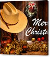 Cowboy Christmas Party - Merry Christmas Canvas Print