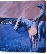 Cowboy Contemplation Canvas Print