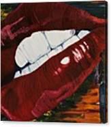 Cowboy Lips Canvas Print