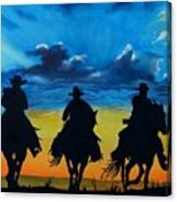 Cowboy  Sunset Canvas Print