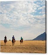 Cowboys On The Open Range Canvas Print