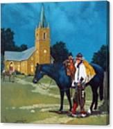 Cowboy's Prayer Canvas Print