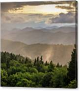 Cowee Mountains Sunset 2 Canvas Print