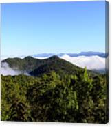 Cowee Overlook At Black Rock Mountain State Park Canvas Print
