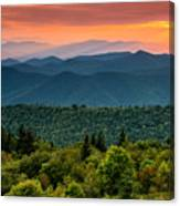Cowee Sunset. Canvas Print