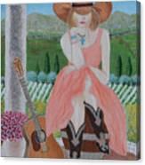 Cowgirl Attitude Canvas Print