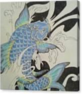 Coy Splash 1 Canvas Print