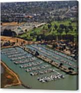 Coyote Point Marina San Francisco Bay Sfo California Canvas Print
