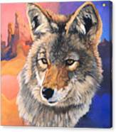 Coyote The Trickster Canvas Print