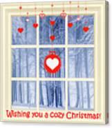 Cozy Christmas Card Canvas Print