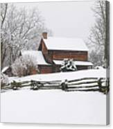 Cozy Snow Cabin Canvas Print