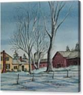 Cozy Winter Night Canvas Print