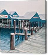 Crab Deck Canvas Print