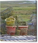 Crab Pots And Baskets Canvas Print