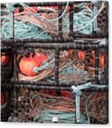 Crab Pots Canvas Print