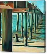 Crabbing At Low Tide Canvas Print