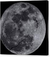 Cracked Moon Canvas Print