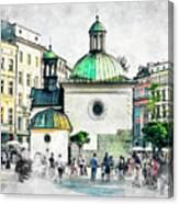 Cracow Art 3 Canvas Print