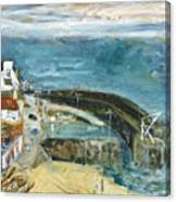Crail Harbor Canvas Print