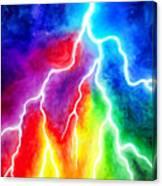 Rainbow Color Lightning Canvas Print
