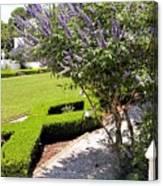 Crane Cottage Garden In Spring Canvas Print