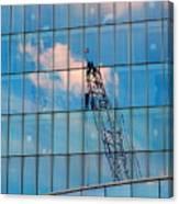 Crane Reflection - Atlantic City Canvas Print