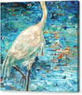 Crane Reflection Canvas Print