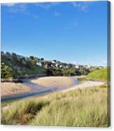 Crantock And The Gannel Canvas Print