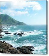 Crashing Coast Canvas Print