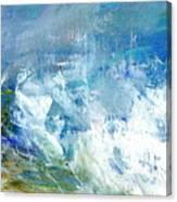 Crashing Waves Against The Shore Canvas Print