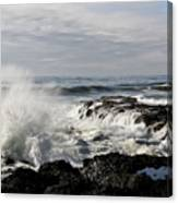 Crashing Waves At Cape Perpetua Canvas Print