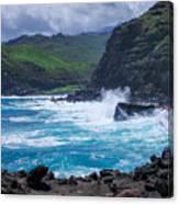 Crashing Waves - Nakalele Point  Canvas Print