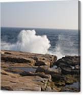 Crashing Waves On Maine Coast Rocks  Canvas Print