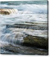 Crashing Waves On Sea Rocks Canvas Print