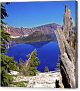 Crater Lake And Wizard Island Canvas Print