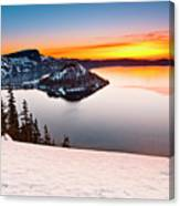 Crater Lake Dawn Canvas Print