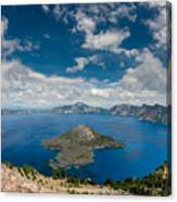 Crater Lake From Watchman Overlook Canvas Print