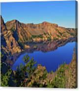 Crater Lake Morning Reflections Canvas Print