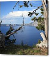 Crater Lake Perspective Canvas Print