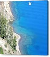 Crator Lake Shore Canvas Print