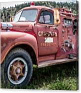 Crawford Fire Truck  Canvas Print